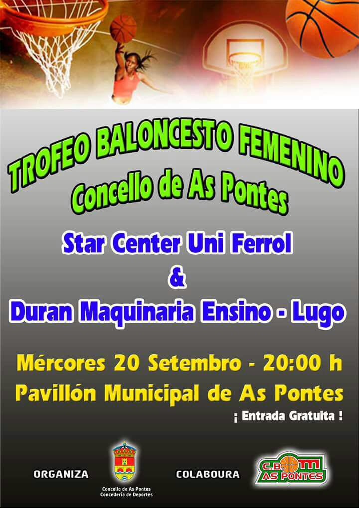 Cartel partido Trofeo As Pontes Femenino